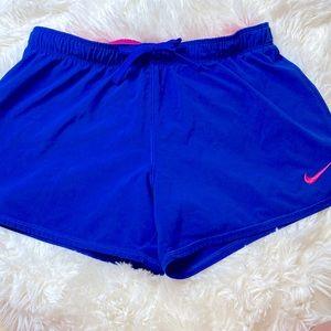 Nike Blue Pink Running Shorts Size Medium
